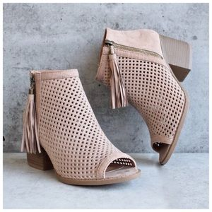 Shoes - ✨SALE✨ New 6.5 Taupe Peep Toe Bootie